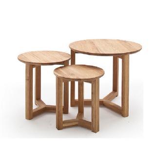 Set de 3 tables basses FAYENCE en chêne massif