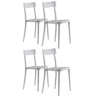 Lot de 4 chaises CORSOCOMO empilables