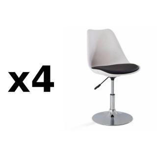 chaise de bureau confortable design au meilleur prix lot de 4 chaises de bureau reglable. Black Bedroom Furniture Sets. Home Design Ideas