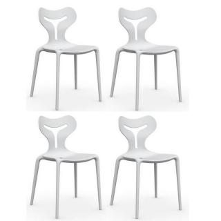 Lot de 4 chaises empilables AREA 51