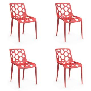 Lot de 4 chaises empilables HERO