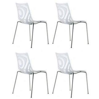 Lot de 4 chaises design TRIBAL transparente