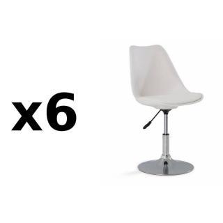 chaise de bureau confortable design au meilleur prix lot de 6 chaises de bureau reglable. Black Bedroom Furniture Sets. Home Design Ideas