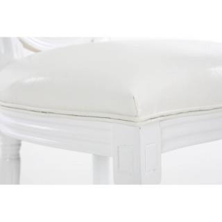 Lot de 8 chaises médaillon VERSAILLES style louis XVI polyuréthane blanc