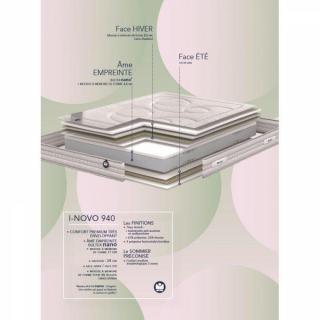 matelas chambre literie bultex matelas i novo 940 m moire de forme 16. Black Bedroom Furniture Sets. Home Design Ideas