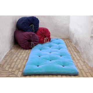 Matelas futon d'appoint bleu celeste BED IN A BAG couchage 70*190*5cm