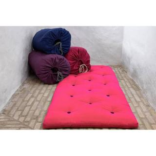 Matelas futon d'appoint rose magenta BED IN A BAG couchage 70*190*5cm