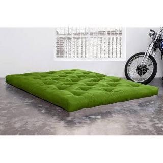 Matelas FUTON COCO vert lime longueur couchage 200cm épaisseur 16cm
