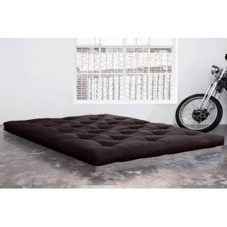 Matelas FUTON TRADITIONNEL grey graphite longueur couchage 200cm