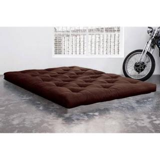Matelas FUTON TRADITIONNEL marron longueur couchage 200cm