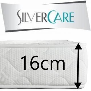 Matelas CRESCENDO MEMORY Silvercare  épaisseur 16 cm dont 4 cm à mémoire de forme 50Kg/m3 pour canapé express 160 cm
