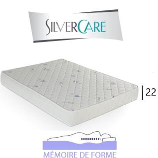Matelas à mémoire de forme OCTAVA Silvercare épaisseur 22 cm  dont 4 cm 50Kg/m3 pour canapé express 140 cm