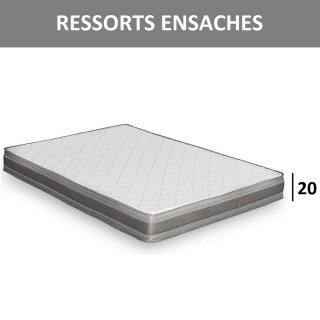 Matelas RESSORTS épaisseur 20 cm pour canapé convertible EXPRESS 120 cm