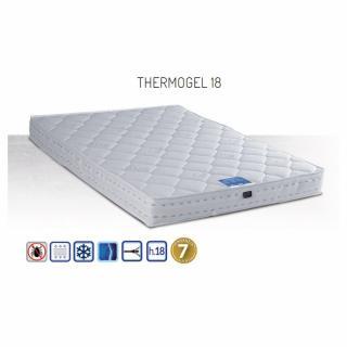 Matelas THERMOGEL 160 cm 18 cm d'épaisseur accueil mousse à mémoire de forme thermorégulante.