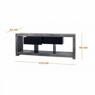 meubles tv meubles et rangements nara meuble tv design b ton avec 2 tiroirs inside75. Black Bedroom Furniture Sets. Home Design Ideas