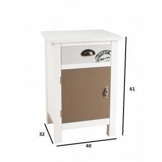 meuble 1 porte 1 tiroir hugo style bord de mer