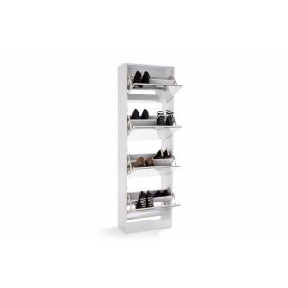 meubles chaussures meubles et rangements meuble chaussures venus blanc 4 portes miroir. Black Bedroom Furniture Sets. Home Design Ideas