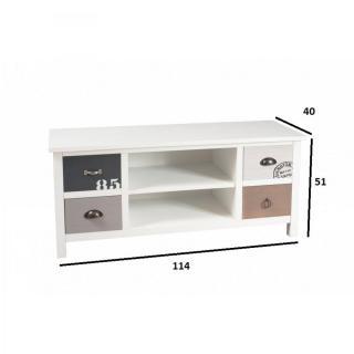 Meuble TV 4 tiroirs HUGO style bord de mer