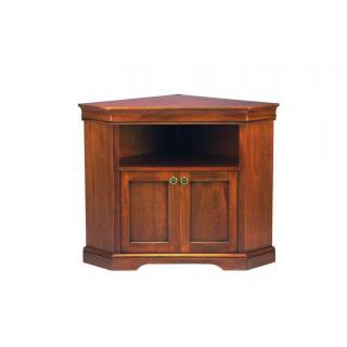 Meuble TV d'angle BALZAC 2 portes et une niche de style Louis Philippe