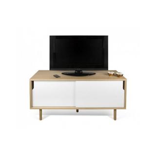 meuble TV DANN chêne avec 2 portes coulissantes