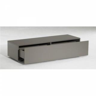 meubles tv meubles et rangements meuble tv design sigma taupe 1 tiroir inside75. Black Bedroom Furniture Sets. Home Design Ideas