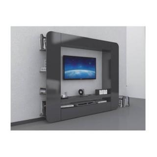 Meuble design TV SQUARE anthracite
