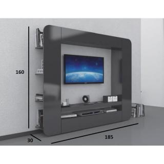 Meubles tv meubles et rangements meuble design tv square anthracite inside75 - Meuble tv anthracite ...