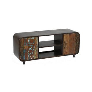 Meuble TV RECOVER en métal et bois recyclés
