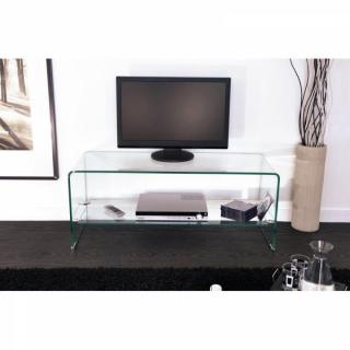 meubles tv meubles et rangements meuble tv design side en verre tremp 12mm transparent inside75. Black Bedroom Furniture Sets. Home Design Ideas