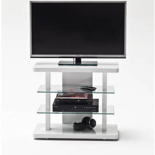 meubles tv meubles et rangements meuble tv design tower laqu blanc brillant compact inside75. Black Bedroom Furniture Sets. Home Design Ideas
