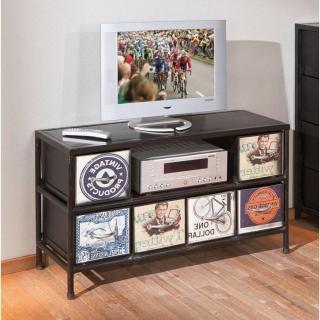 Meuble TV vintage VIRANDO en acier