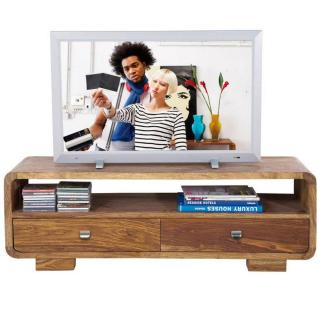 Meuble Tv WOOD 2 tiroirs en bois massif