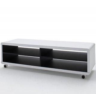 Meuble TV XL noir et blanc