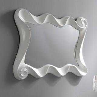 KURVI Miroir mural design blanc