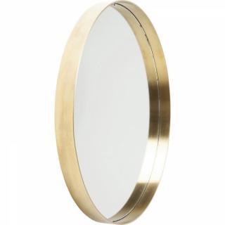 Miroir CORVETTE design rétro vintage cadre rond laiton 60cm