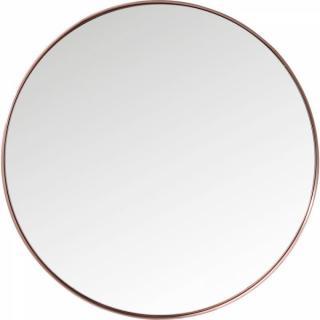 Miroir PARTY design rétro vintage cadre rond cuivré 100cm