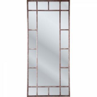 Miroir RÉFLEXION design rétro vintage cadre rectangulaire cuivré 200/90cm