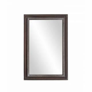Miroir rectangulaire CASSIE 40 x 60 cm en bois de paulownia style campagne