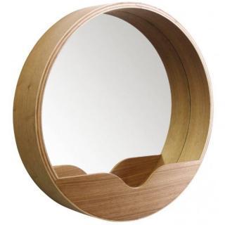 ZUIVER Miroir ROUND WALL 60' en bois diamètre 60 cm
