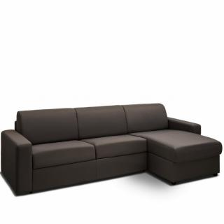 Canapé d'angle convertible NIGHT gris graphite express couchage 140 cm