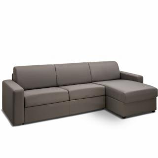 Canapé d'angle convertible NIGHT gris silver express couchage 140 cm