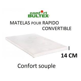 Canapé NIGHT BULTEX convertible EXPRESS 140*14* 195cm polyuréthane graphite
