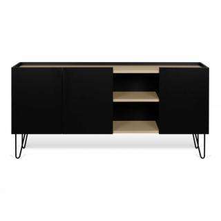 Buffet design NINA  Chêne clair et noir 180cm