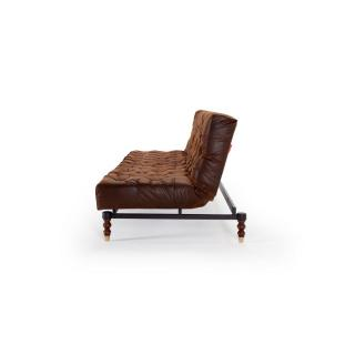 INNOVATION LIVING  Canape design OLD SCHOOL convertible lit 210*115cm Leather Look Brown Vintage