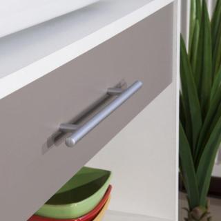 meubles cuisine meubles et rangements desserte blanc taupe mat avec placards et tiroirs de. Black Bedroom Furniture Sets. Home Design Ideas
