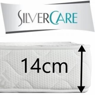 Matelas SOTTO MEMORY Silvercare  épaisseur 14 cm dont 2 cm à mémoire de forme 50Kg/m3 pour canapé rapido 140 cm