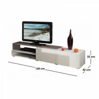 Meubles tv, meubles et rangements, PACIFIC Meuble tv couleur blanc ...