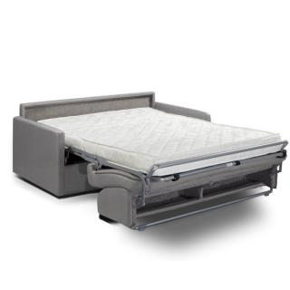 Canapé convertible PARADISO OUVERTURE RAPIDO 140cm matelas 14cm tissu gris silver