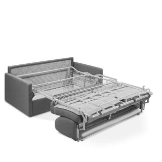 Canapé convertible PARADISO EXPRESS 140cm matelas 14cm gris silver