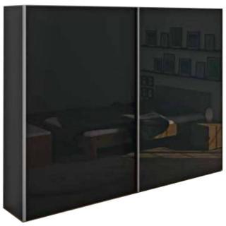 Dressing design PASSIV de JUTZLER 200 cm, portes coulissantes en verre noir